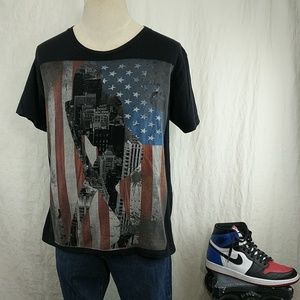 American Flag Stripper City Tee Shirt